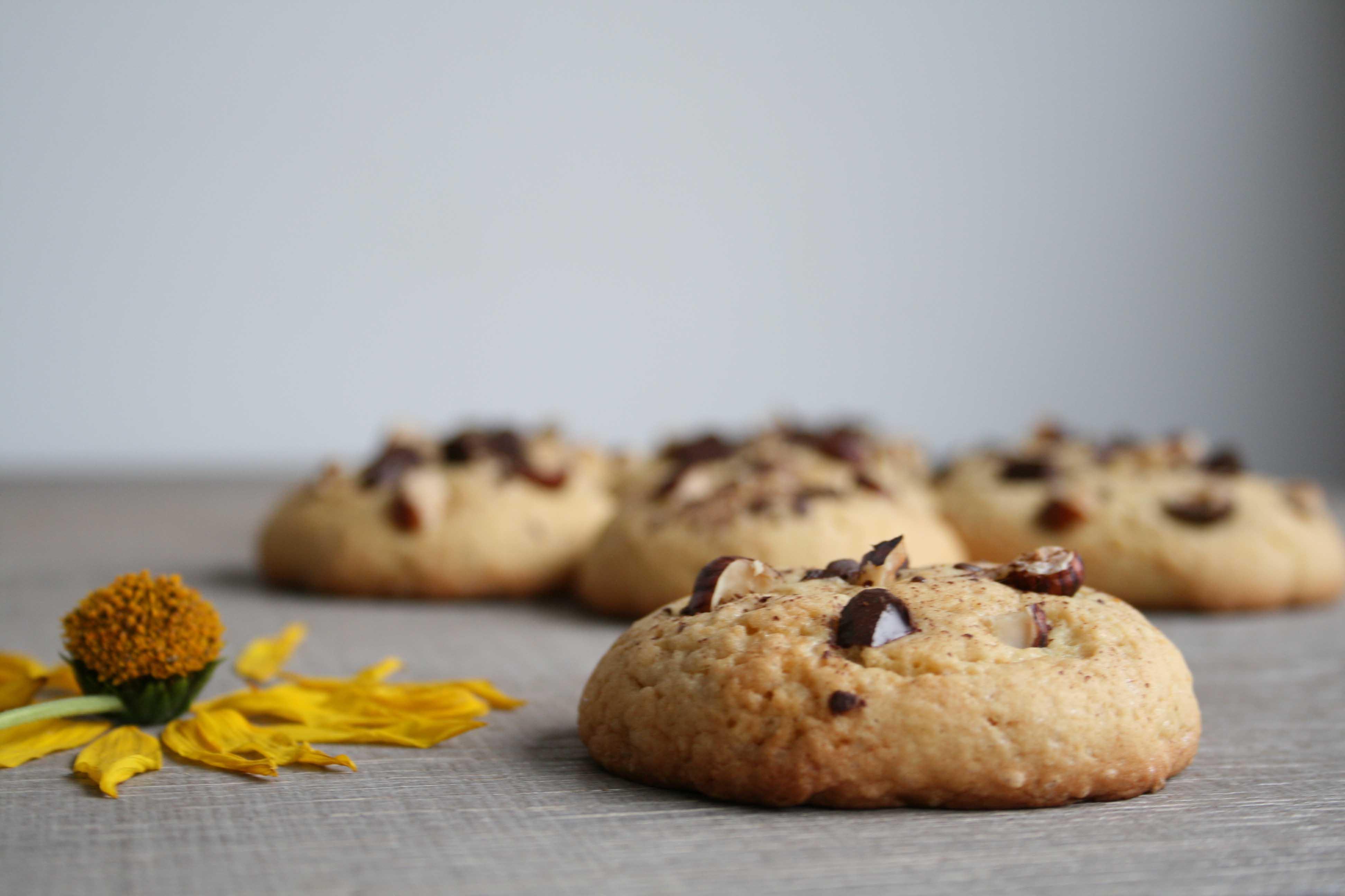 Cookie noisette chocolat