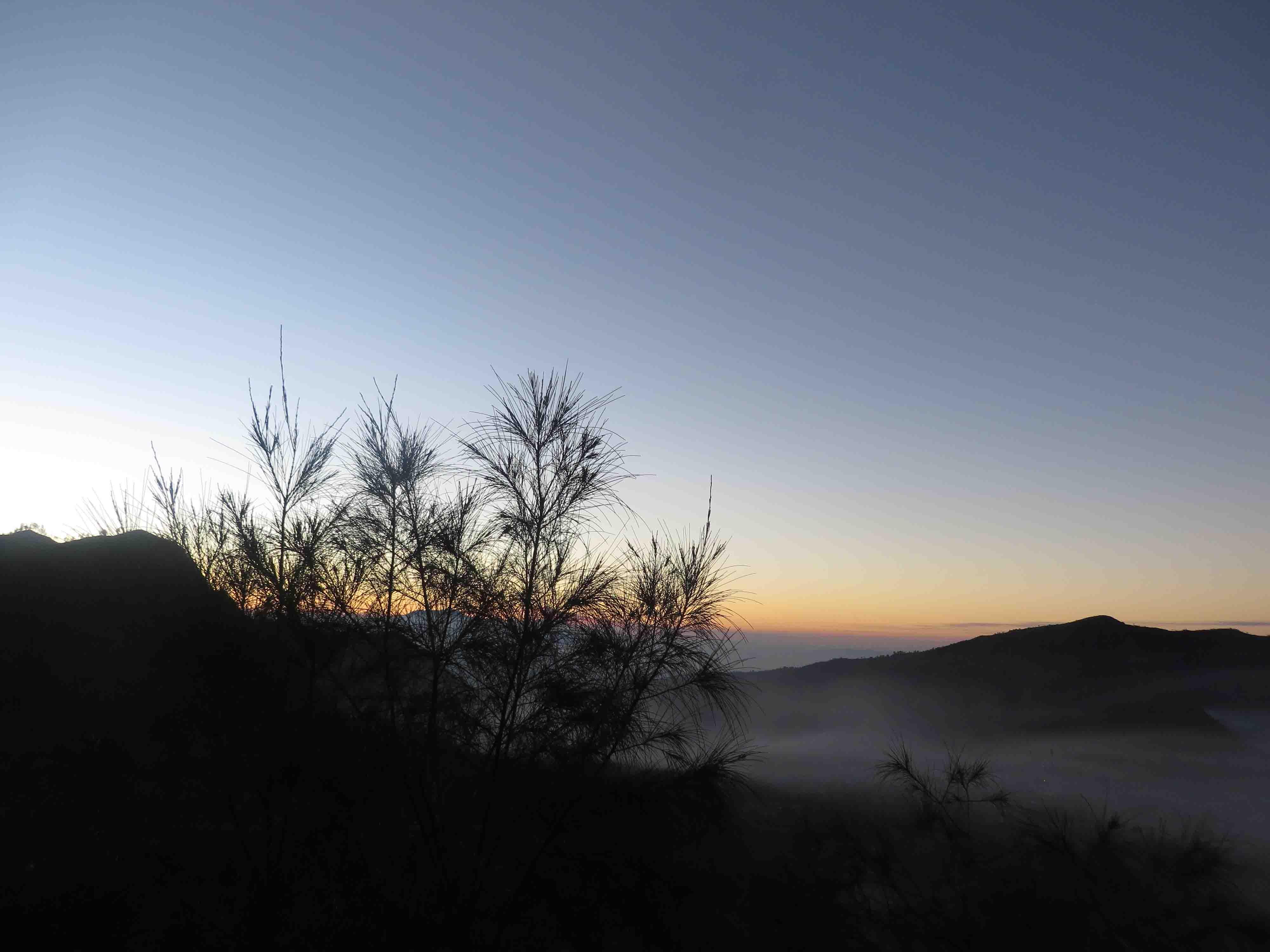 Lever de soleil à Bromo