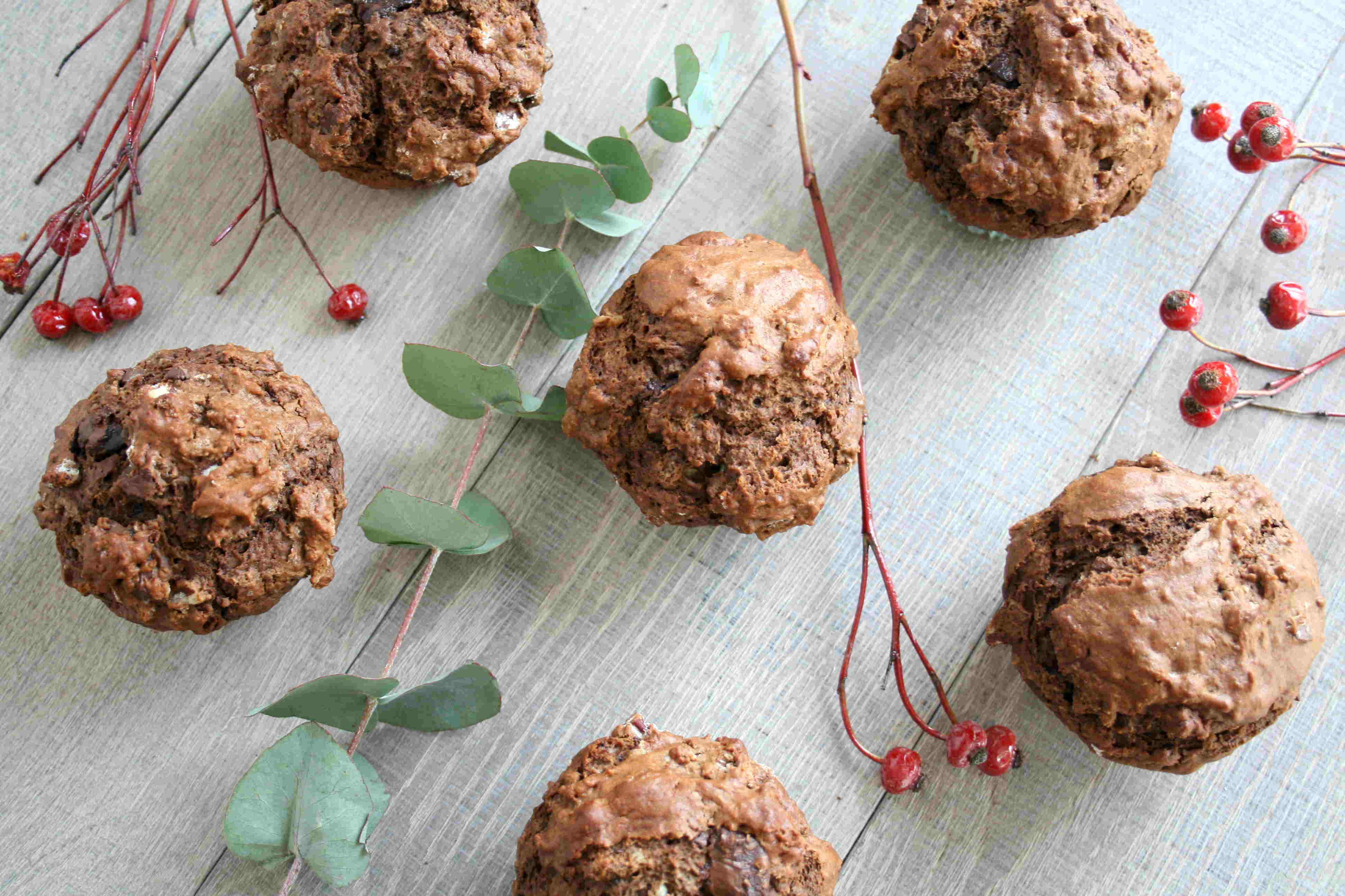 Muffinc chocolate pecan