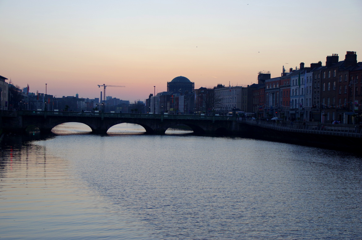 Sunset in Dublin