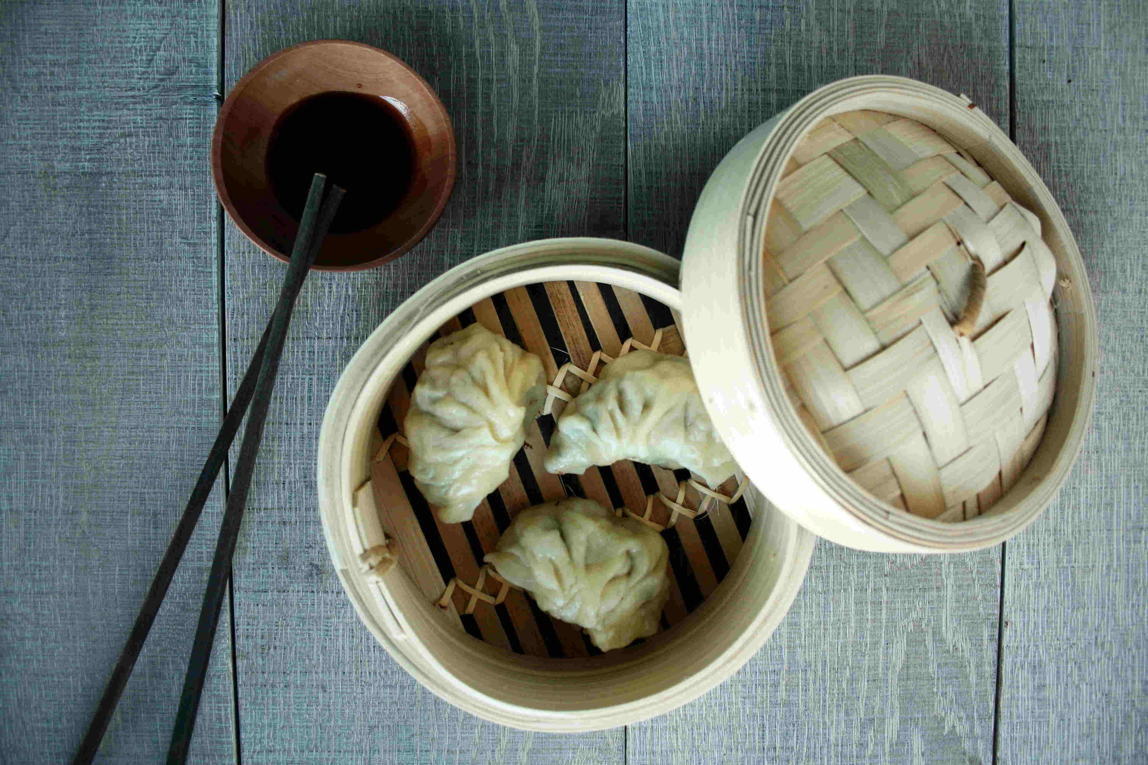 Steamed cooking jiaozi